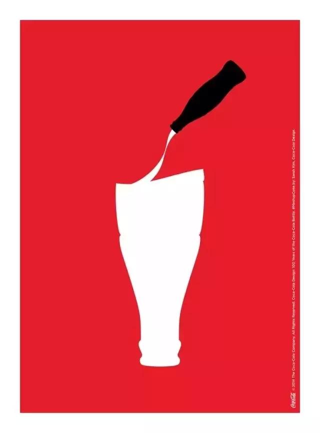 可口可乐100年,100张创意插画为经典的玻璃瓶庆生图片